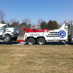 squires services towing wrecked truck