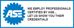 We Employ Professionals Certified By ASE...Let Us Show You Their Credentials